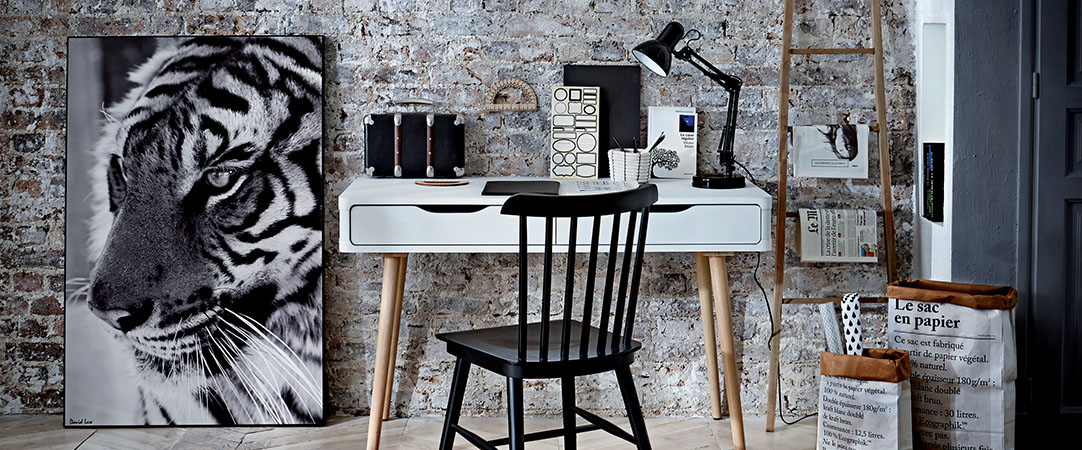 un bureau d co la maison meubloth rapie. Black Bedroom Furniture Sets. Home Design Ideas