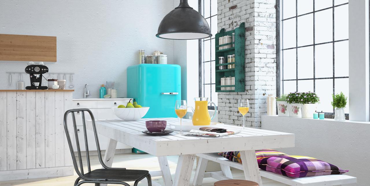 Une cuisine haute en couleurs