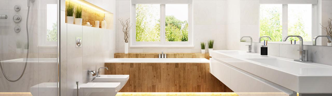Du verre dans votre nouvelle salle de bain